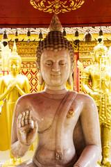 Marble Buddha image on sitting position