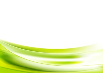 Abstract bright green wavy background