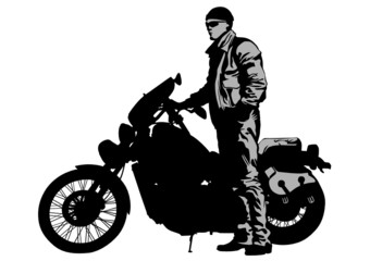 Wall Mural - Bikers clothing
