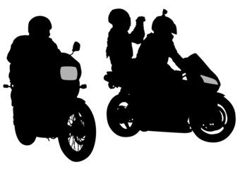 Wall Mural - Sportswear bikers