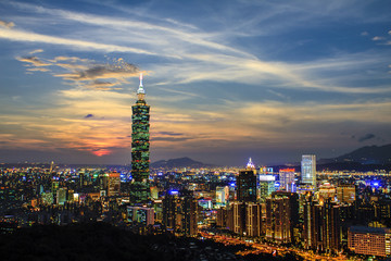 Taipei City View at Night