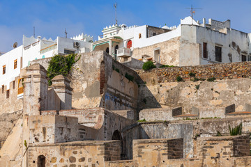 Wall Mural - Ancient fortress and living houses in Medina, old Tangier, Moroc