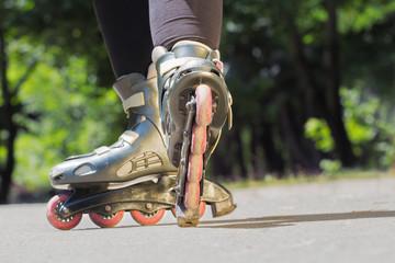 Rollerblade/Inline skates close-up.