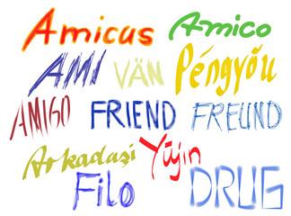 Friends color letters