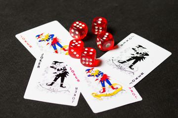 Joker and dice