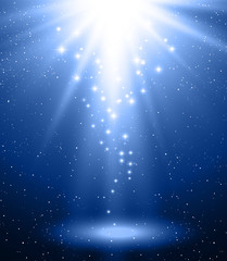 Abstract magic blue  light background