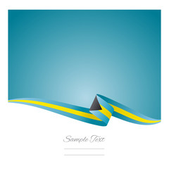 Abstract color background Bahamian flag vector