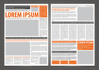 Vector empty newspaper print template design