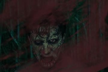Horrible zombie man
