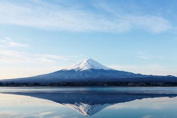 Foto auf Gartenposter Gebirge 逆さ富士