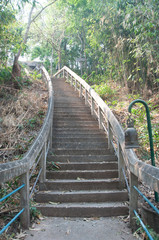 Stairs up the hill, to PHRA THAT PHUPEK ,Sakon Nakhon, Thailand