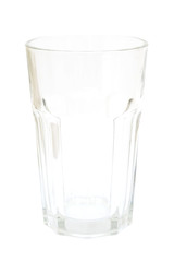 empty transparent glass isolated on white background