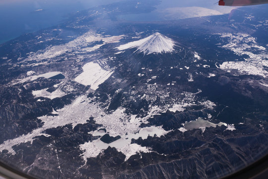 Mount Fuji from Airplane