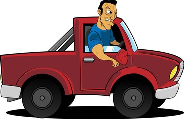 Man in a truck