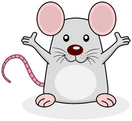 a rat happy open arms