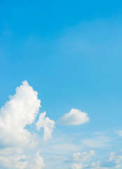 white cloud and blue sky background image