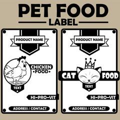 Pet Food Label