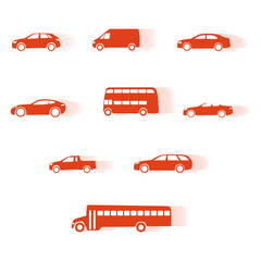 Car moving silhouettes