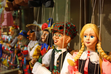 Traditional puppets - the young lady