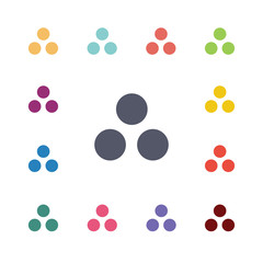 circle diagram flat icons set.