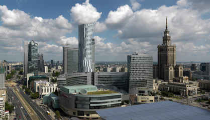 Warszawa,widok centrum