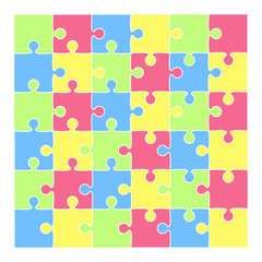 vector puzzle background in pastel baby colors