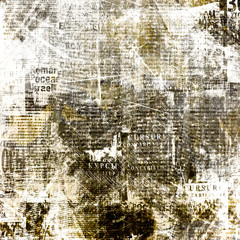 Grunge abstract newspaper background for design with old torn po