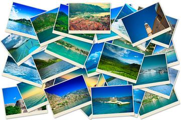 Stack of Montenegro travel photos