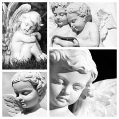 carved angelic images composition