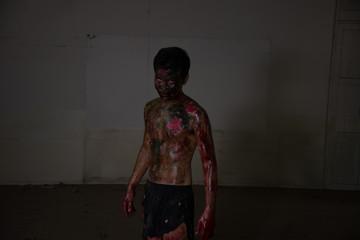 Zombie men in Haunted School
