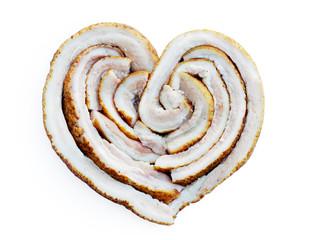 lard in the shape of heart