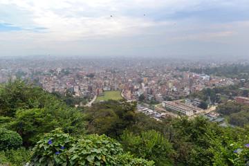 View of Kathmandu city from Swayambhunath temple