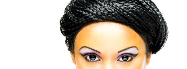 makeup Black Woman black eyes and hair