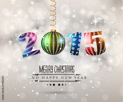 2015 Merry Christmas and Happy New Year Flyer\