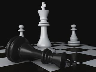 Black vs wihte chess 3d concept