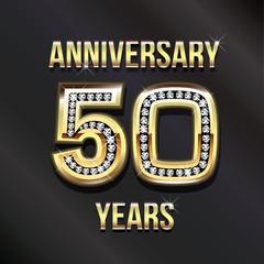 50 years anniversary greeting card.