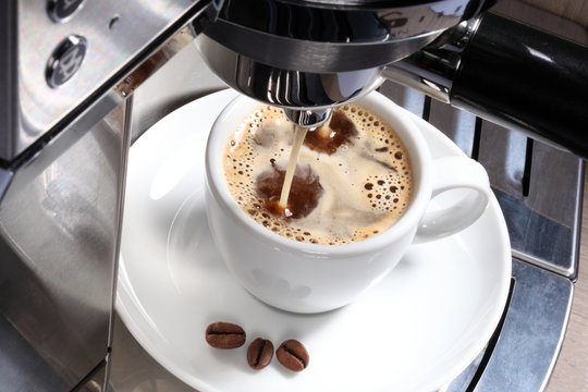 Cafe aus der Maschine