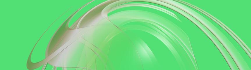 green abstract panorama