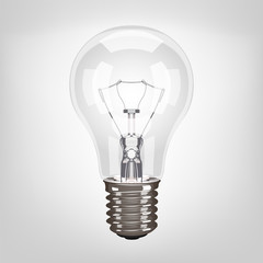 Vector lamp light bulb realistic illustration