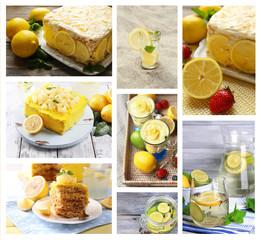 Collage of fresh limes and lemons