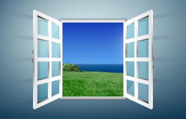 Cerca immagini finestra aperta - Costo di una porta finestra ...