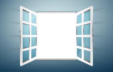 Cerca immagini finestra aperta for Disegno finestra con persiane