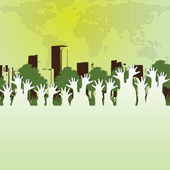 Abstract Eco Concept Background Vector