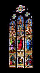 Vitrail église saints Pierre et Paul d'Obernai, Alsace, Bas Rhin