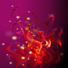 Purple fire background with dots