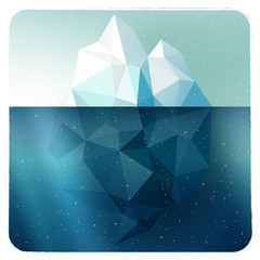 Iceberg picture in frame