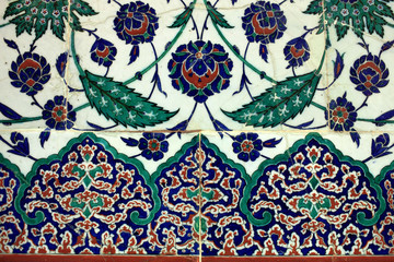 Tiled arabic wall