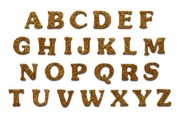 Gold Glitter Letters