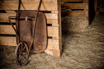 Aged Barrow in the Barn Wall mural