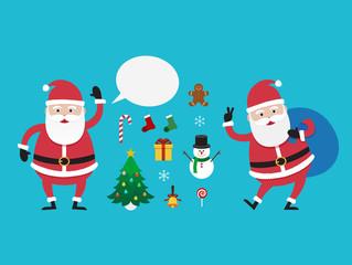 Character Santa Claus, Vector illustration